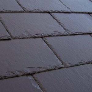a close up of a penrhyn welsh slate roof