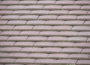 close up of a concrete plain tile roof