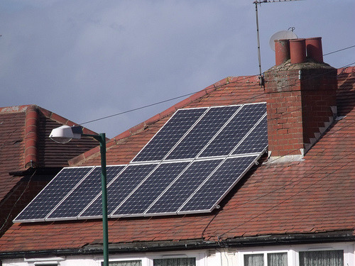 Solar panels on the roof of a house. Photo: ell brown