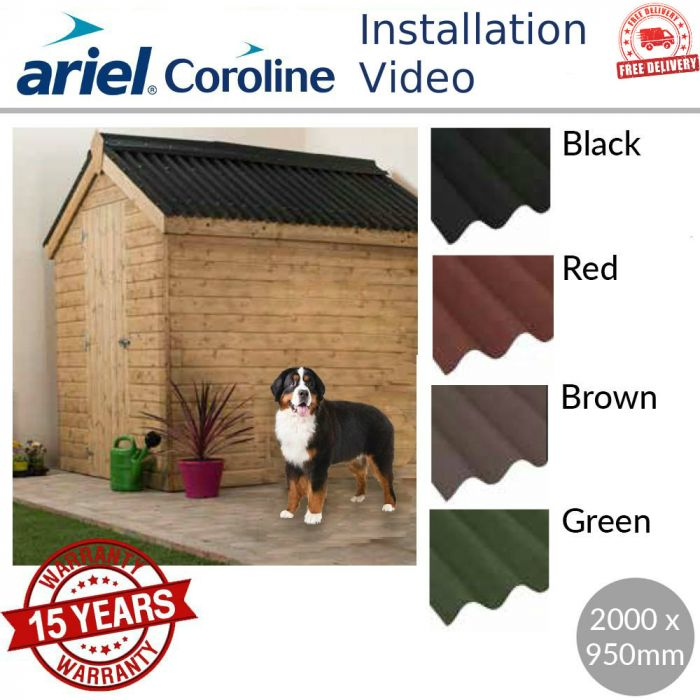 Green Onduline Verge Bitumen Roofing Sheets 1100mm Long