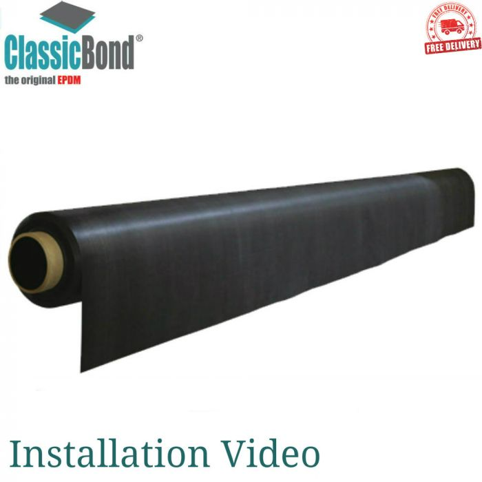 ClassicBond EPDM Rubber Roof (1 2mm): 3m Wide