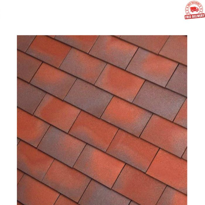 Dreadnought Red/Blue Blend Clay Tile: Sandfaced
