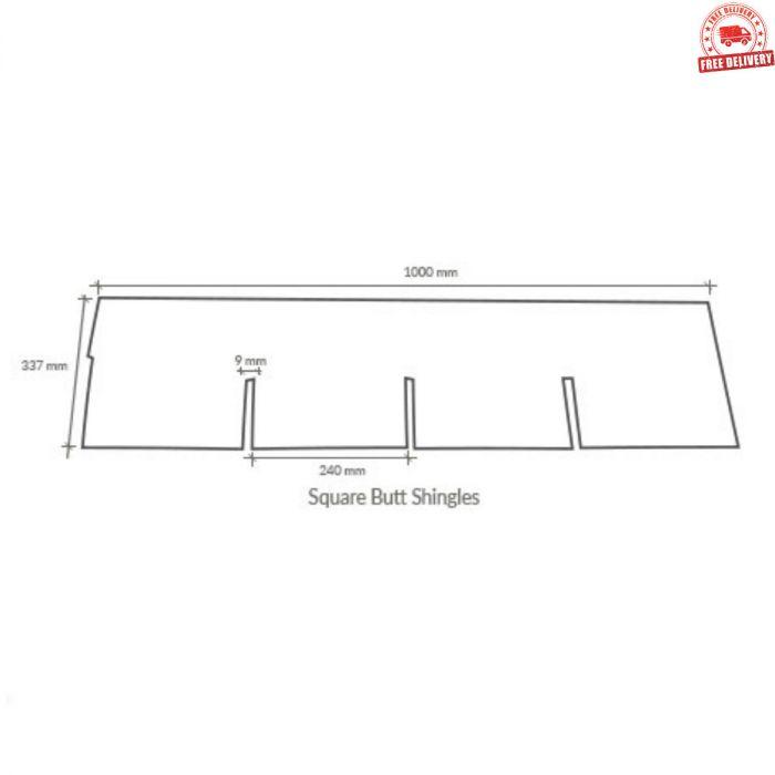 Supaflex Roof Felt Shingles: Square Butt / 4 Tab (2 61m2)