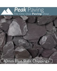 Blue Slate Chippings, 40mm