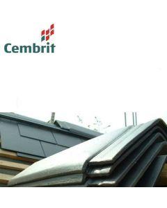 Cembrit Steep Pitch (90 degree) Fibre Cement Ridge Tiles + Ridge Fixing Screws