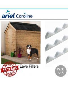 Coroline Corrugated Bitumen Roofing Sheets: Eaves Filler (Pack of 6)