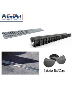 Garage Drainage Kit, Galvanised Lid: 3m