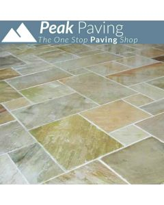 Fossil Mint Indian Paving: m² packs