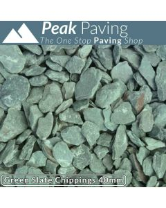 Green Slate Chippings, 40mm