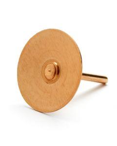 Copper Disc Rivets, Pack 250