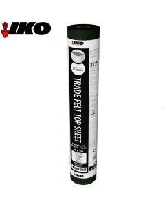IKO Trade Top Sheet (Garage Roof Felt): Black Mineral 10m x 1m