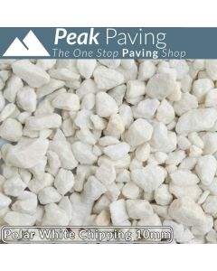 Polar White Chippings, 10mm