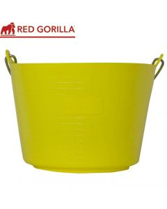 Red Gorilla Flexible Bucket, Yellow: 22ltr