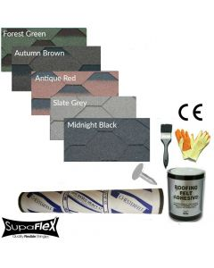 Supaflex Hexagonal Roof Felt Shingles Complete Roof Pack
