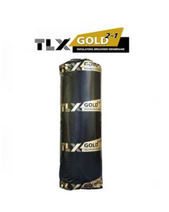 TLX Gold Breathable Multi-Foil & Roofing Membrane: 10m x 1.2m