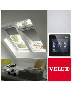 GGL 207021U SK06 VELUX INTEGRA White-Painted Electric Centre-Pivot Roof Window (114cm x 118cm)