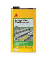 Sikagard Universal 5 Star Wood Treatment, Clear: 5ltr