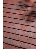 Dreadnought Handformed Purple/Brown Clay Tile: Sandfaced