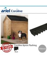 Coroline Corrugated Bitumen Sheets: Apron Flashing
