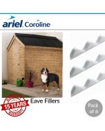 Coroline Corrugated Bitumen Roofing Sheets: Eaves Filler (Pack of 6)