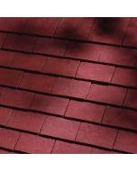 Dreadnought Handformed Deep Red Clay Tile: Sandfaced