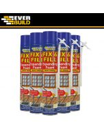 Buy Fix & Fill Expanding Foam with free delivery. Quick setting polyurethane based foam. Can be cut, sawn, plastered and sealed over after approximately 1 hour.