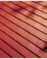 Dreadnought Plum Red Clay Tile: Smooth