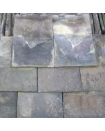 """Reclaimed Handmade Staffordshire Blue Clay Roof Tiles: 10"""" x 6.5"""""""