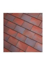 Dreadnought Red/Blue Blend Clay Tile: Smooth