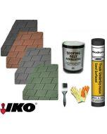 IKO Hexagonal Roof Felt Shingles Complete Roof Pack