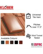 Klober Universal Roof Tile Vent and Cap