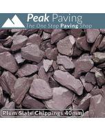 Plum Slate Chippings, 40mm