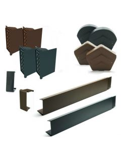 Manthorpe SmartVerge Linear Dry Verge Complete Kit For Slate Roofs: 2 Gable Ends