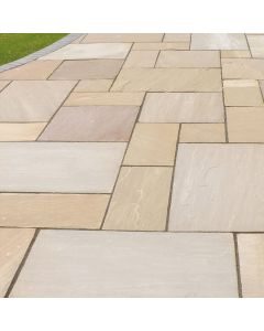 Indian Paving Slabs: 290mm x 290mm Mixed Colour Slabs