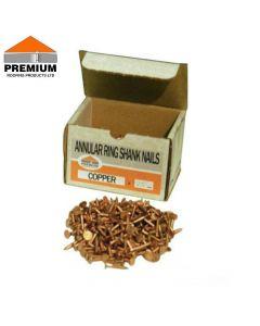 Premium Copper Annular Ring Shank Nails: 1kg