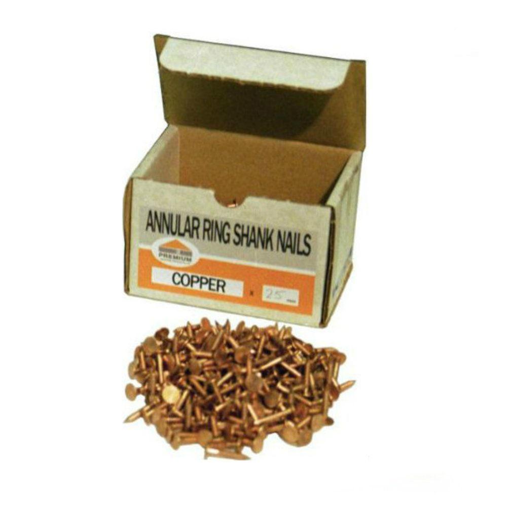 Premium Copper Annular Ring Shank Nails: 1kg