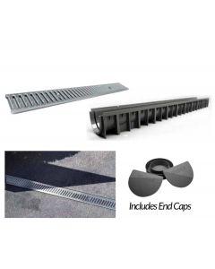 Garage Drainage Kit, Galvanised Lid: 3m