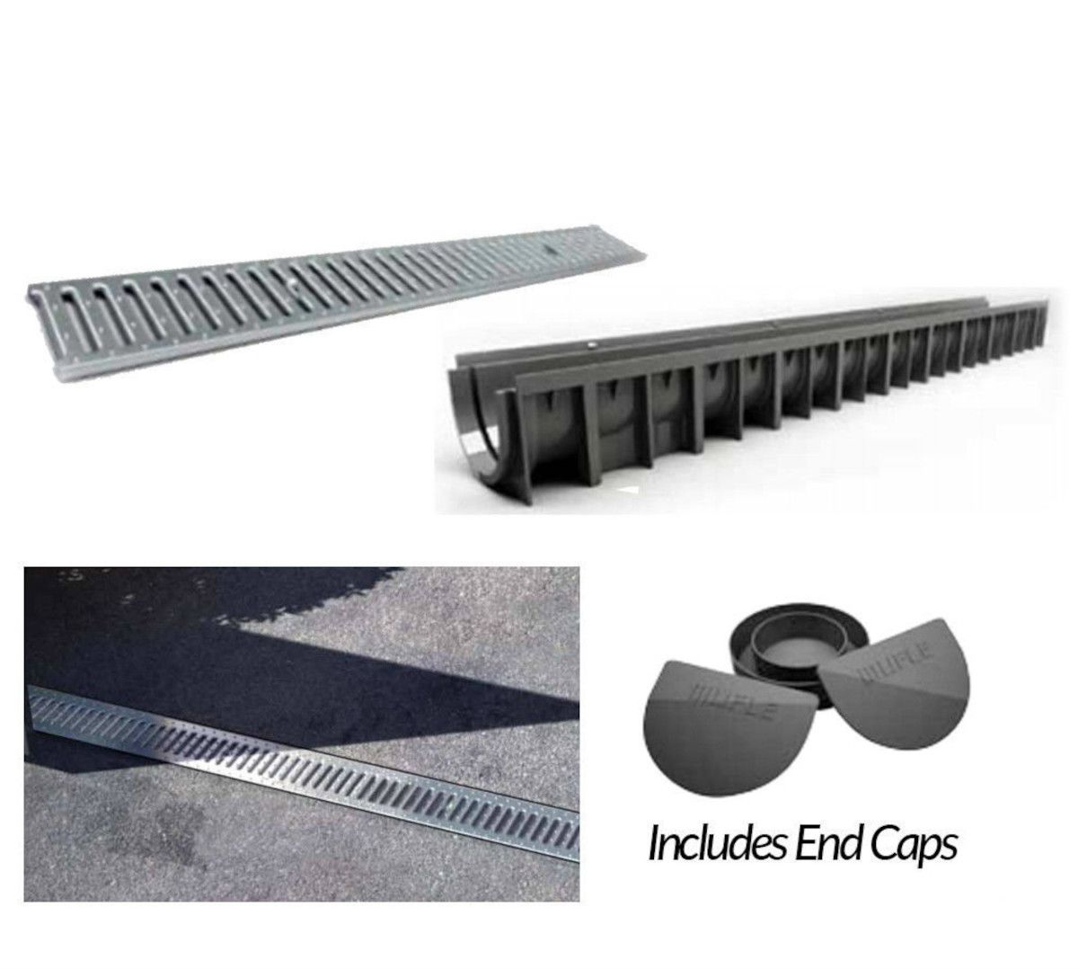 Garage Drainage Kit, Plastic Lid: 3m