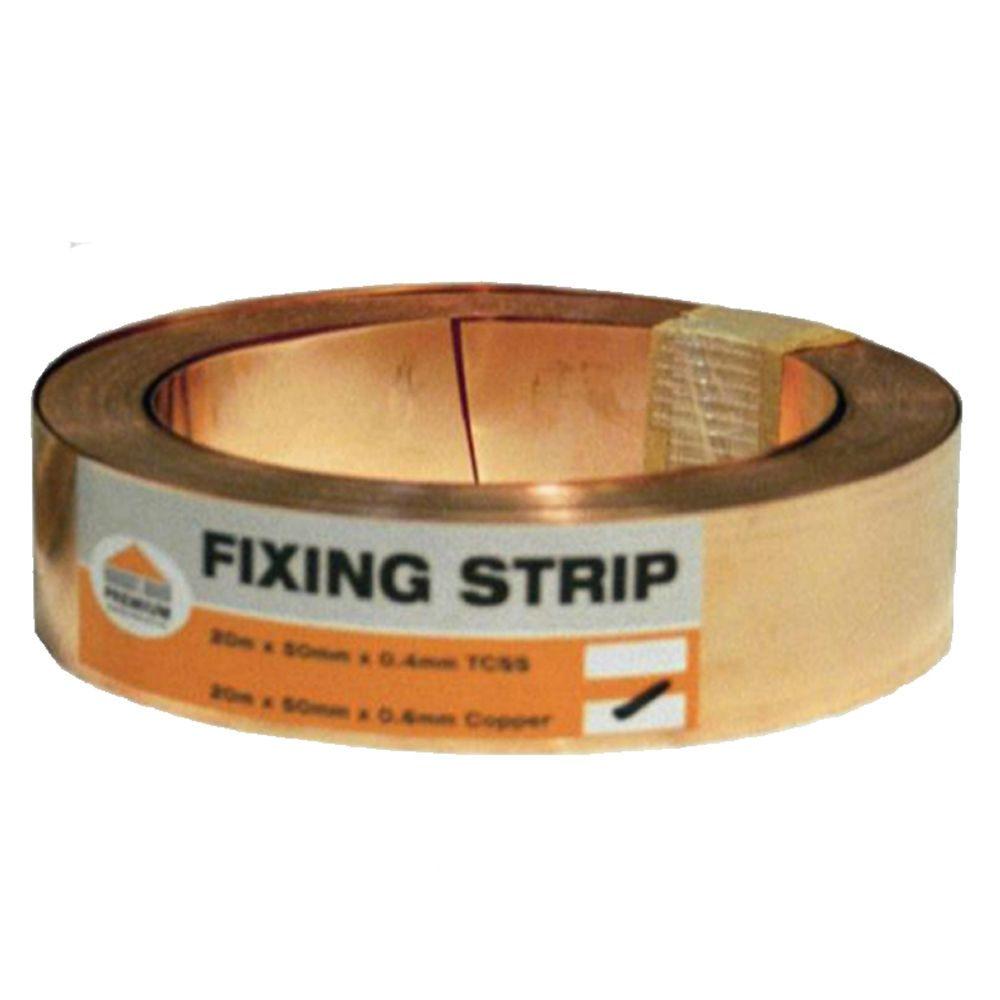 20m x 50mm Copper fixing strips