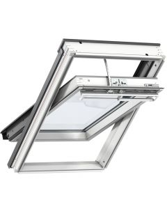 GGL 207030 VELUX INTEGRA® White-Painted Solar Centre-Pivot Roof Window