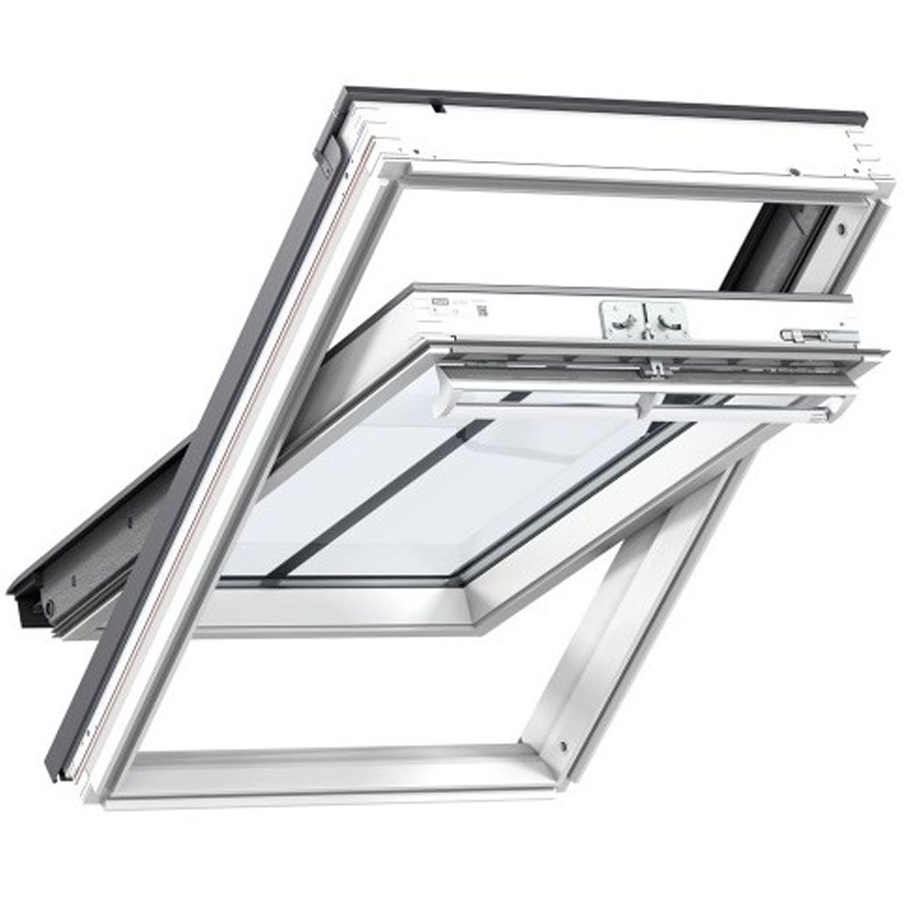 GGL SD5J2 White-Painted Centre-Pivot VELUX Conservation Rooflight for Tile up to 90mm in Profile