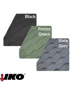 IKO Roof Felt Shingles: Hexagonal / 3 Tab (3m2)