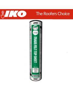 IKO Trade Top Sheet (Garage Roof Felt): Green Mineral 10m x 1m
