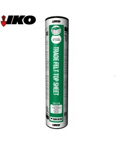 IKO Trade Top Sheet (Garage Roof Felt): Green Mineral 10m x 1m