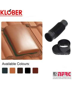 Klober Universal Roof Tile Vent and Cap + Soil Mechanical Adaptor and Flexi-Pipe