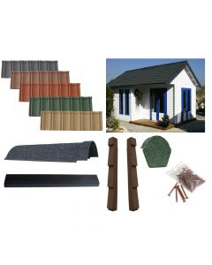 Lightweight Tiles Granulated Complete Roof Kit