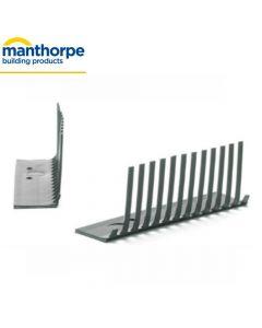 Manthorpe SmartVerge Linear Dry Verge System, Eaves Closure: Black