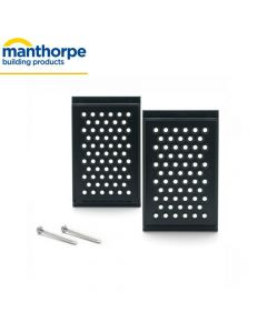 Manthorpe SmartVerge Linear Dry Verge System Fixing Clip: Grey, Pack 2
