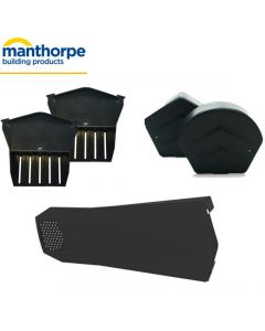 Manthorpe SmartVerge Universal Dry Verge Complete Kit For Tiled Roofs: 1 Gable End