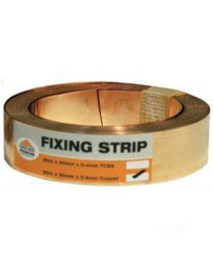 Premium Copper Fixing Strip: 10m x 50mm